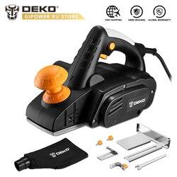 DEKO DKEP900 220V 900W plano eléctrico velocidad Variable corte de madera de mano con accesorios