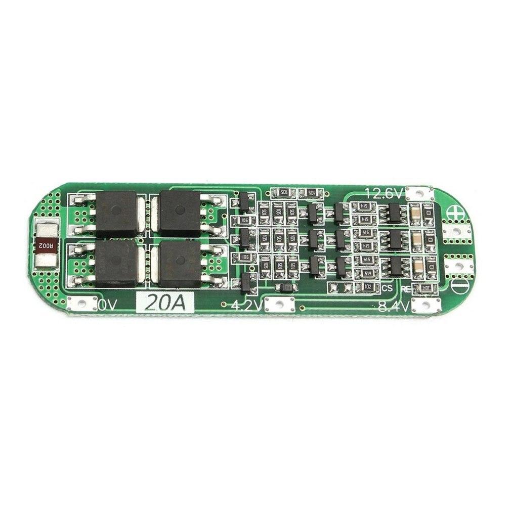 3S 20A batería de litio Li-ion profesional 18650 cargador PCB Placa de protección BMS para Motor de taladro 12,6 V Módulo de célula Lipo