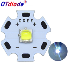 Светодиодный светильник Cree XLamp, 10 вт, холодный белый, 6500 к, высокая мощность, диодный излучатель, светодиодный светильник 16 мм, черный или белый цвет, печатная плата