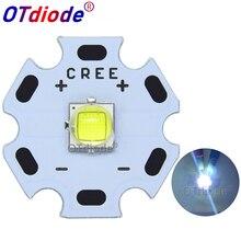 Cree xlamp XM L2 xml2 t6 10w branco frio 6500k, diodo emissor de luz para lanterna pcb preto ou branco de 16mm