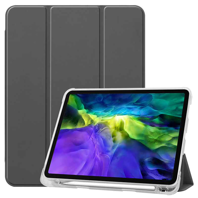 Gray Gray Clear TPU case with pencil slot for 2020 iPad Pro 11 inch A2228 A2068 A2230 transparent