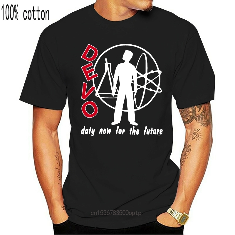 DEVO DUTY NOW FOR THE FUTURE ART POP ELECTRONIC SYNTHPOP Новая Черная футболка 2019 модная футболка 100% хлопок футболка