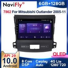 6G + 128G QLED Auto Radio GPS Navigation WIFI RDS IPS Multimedia player Für Mitsubishi Outlander xl 2 2005 2006-2011 2din