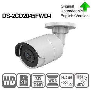 Image 3 - Hikvision DS 2CD2045FWD I POE камера видеонаблюдения 4MP IR Сетевая купольная камера 30 M IR IP67 H.265 + слот для SD карты