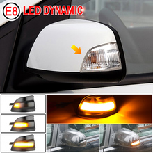 2pcs LED Side Wing Rearview Mirror Indicator Blinker Repeater Dynamic Turn Signal Light For Ford Focus 2 C MAX 2003 2007