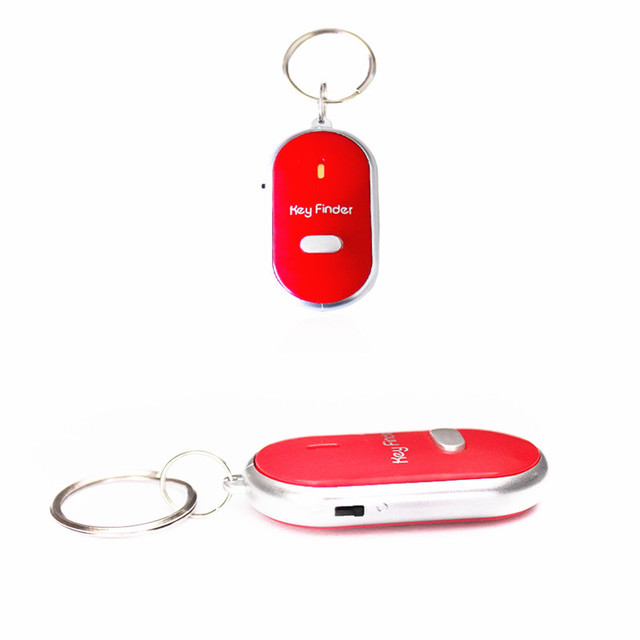 Wireless Whistle LED Light Torch Remote Sound Control Lost Key Finder Locator Anti-Lost Keychain Creative Color Keychain 4.20 2