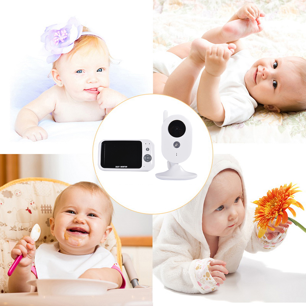3 5TFT LCD Display Wireless Baby Monitor Multi Lingual Music Playback Digital 2 Way Talk Temperature Monitoring Lullaby in Baby Monitors from Security Protection