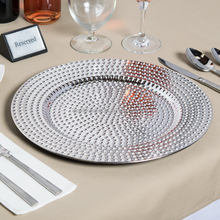Party 13in Round Gold Beaded Polypropylene Charger Plate Trays Decorative