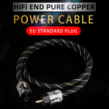 YYAUDIO Hi-End copper AC power cable hifi audio US/EU power cord pure copper power cable with P-029/P-029E power plug connector