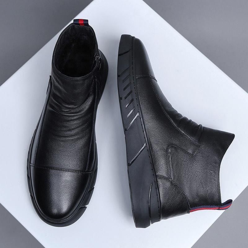 Casual Leather Boots  Leather Men Shoes Fashion Male Shoes Winter Ankle Boots Male Boots Winter Men Shoes 996