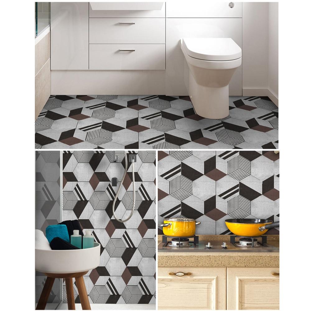10pcs floor tile stickers peel stick