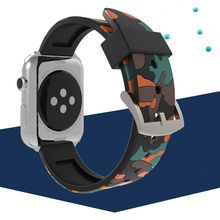 Strap for Apple Watch 4 5 Band 44mm 40mm correa apple watch 42mm 38mm Camouflage Sport Bracelet wrist Watchband for iwatch 3 2 1 цена и фото
