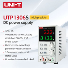 UNI-T UTP1306S Single Switching DC Power Supply Single Output 32V/6A Voltage/current display resolution: 10mV/1mA