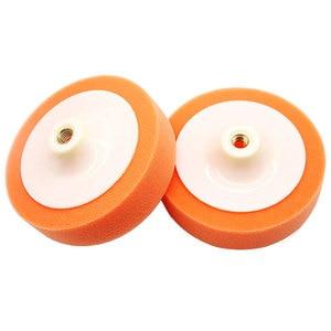 Image 5 - Almofadas de polimento de carro 150mm, conjunto de laranja, para roda de enceramento e polimento de carro, kit de almofadas lavadora de carro quente