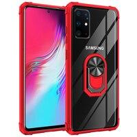 Antiurto Cavalletto Cassa Del Telefono Per Samsung Galaxy A9 A7 2018 Stella Pro A9S J7 J6 J4 J3 2018 Più Il Magnetico anello di Supporto Della Copertura