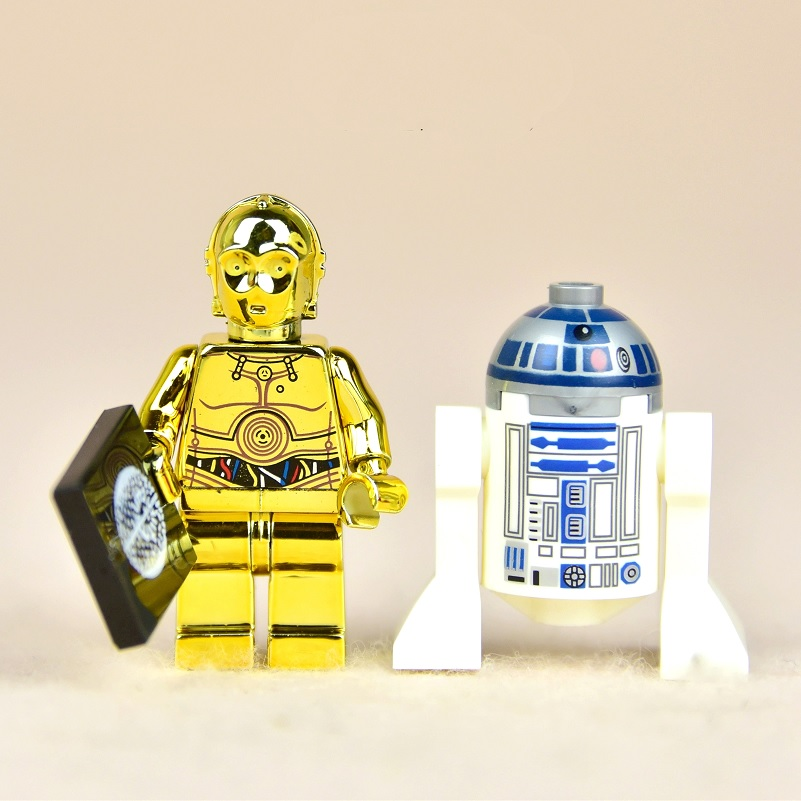 Star Wars Block Toy Robot R2D2 C-3PO Droid StarWars Building Blocks Toys