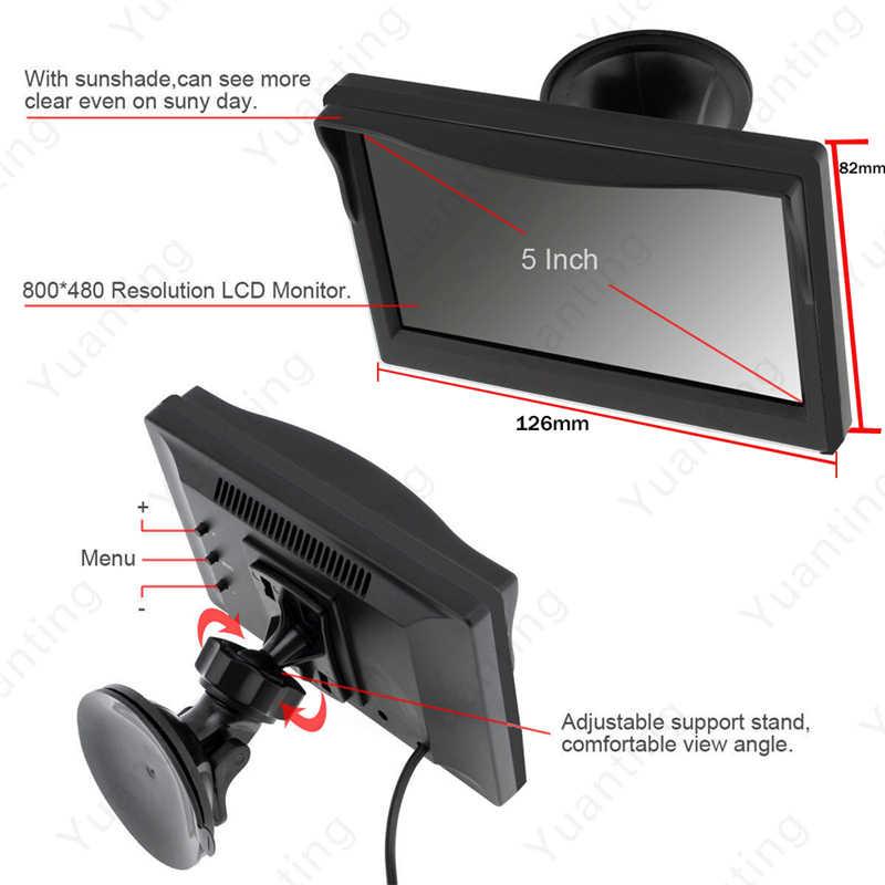YuanTing wodoodporna wbudowana bezprzewodowa tablica rejestracyjna widok z tyłu samochodu kamera cofania kamera parkowania Night Vision 5 ''Monitor LCD