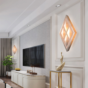 Modern Art High Grade Shell Modeling Wall Lamp For Home Bedroom Living Room Decoration Indoor Lighting European Luxury Style