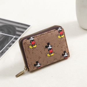 Disney Mickey Mouse new wallet Mickey Mouse clutch bag classic PU leather bag coin purse simple fashion small wallet