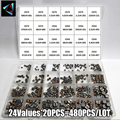 480PCS CD32 CD43 CD54 CD75 24Value Power Inductance Shielded inductor SMD 2.2/3.3/4.7/10/15/22/33/47/68/100/150/220/330-680UH