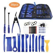 38 pçs ferramenta de remoção de guarnição do carro painel da porta do carro traço ferramentas de remoção de rádio de áudio kit automotivo pry ferramentas kits reparação automóvel kit