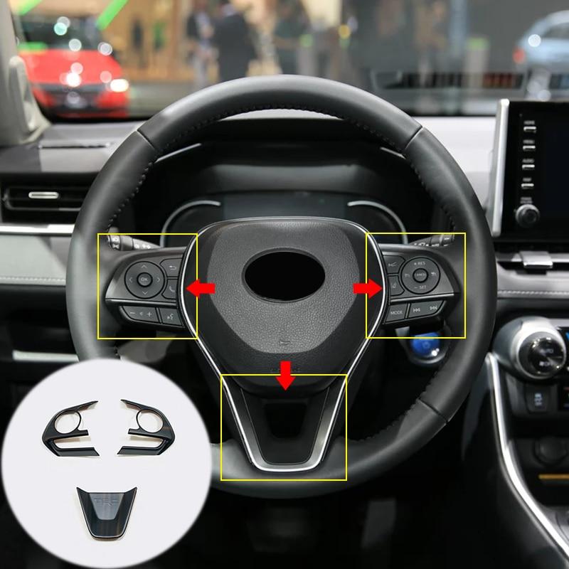 ABS Steering Wheel Cover Trim Frame Accessories For Toyota RAV4 2013-2018 k