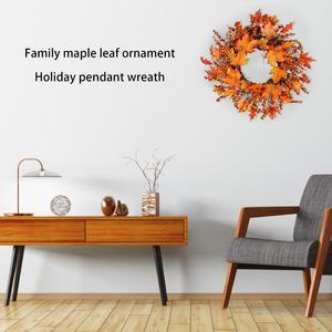 Image 5 - Noël Thanksgiving automne couleur guirlande fenêtre Restaurant maison feuille dérable décoration ornements vacances pendentif couronne