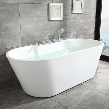 SY-2013 1.5m adulto acrílico casa banheira oval autônoma banheira moderna do banheiro s-armadilha com torneira de cobre ferragem parte