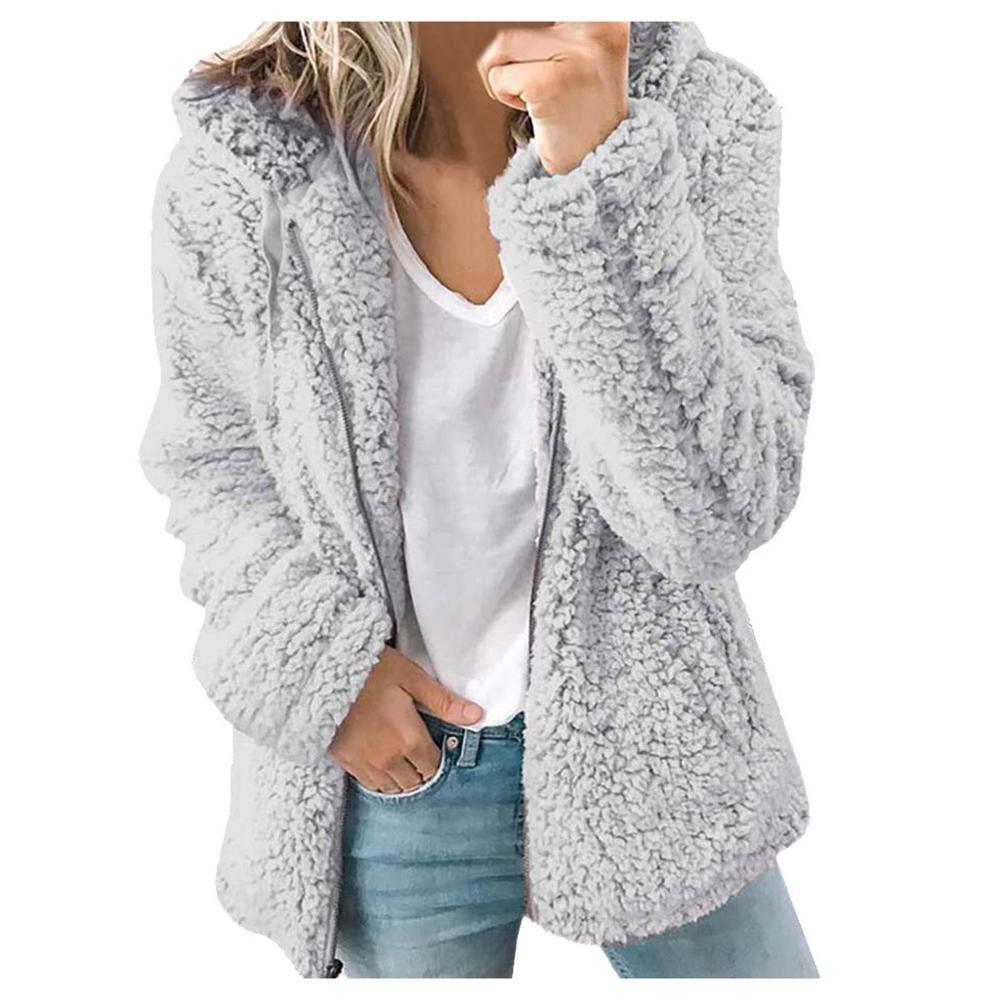 Damen Winter Warm Kapuzen Strickpulli Strickjacke Outwearlinie Lang Mantel Jacke