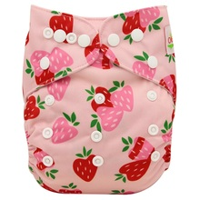 Baby Nappies Diaper-Size Pocket-Cloth-Diaper Adjustable Infant Flamingo 0-3years