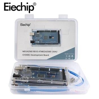 For Arduino Mega 2560 R3 MEGA2560 REV3 ATMEGA2560-16AU CH340G AVR USB Development board MEGA2560 diy electronic Kit with box uno r3 ch340g ch340 development board mega328p atmega328 atmega328p 16au module for arduino micro usb diy electronic