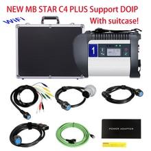 Настоящий DOIP MB Star C4 PLUS MB SD Подключение DOIP диагностический инструмент для автомобилей и грузовиков с функцией Wi-Fi,12 в программное обеспечение Бесплатный чемодан