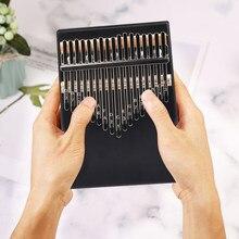 17 chave de madeira kalimba instrumento musical polegar dedo piano iniciantes mbira portátil dedo flexível piano