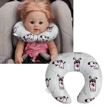 Child car seat headrest safety pillow Soft U-Shaped Plush Sleep Neck Protection Pillow Office Cute Lovely Pillows For baby image