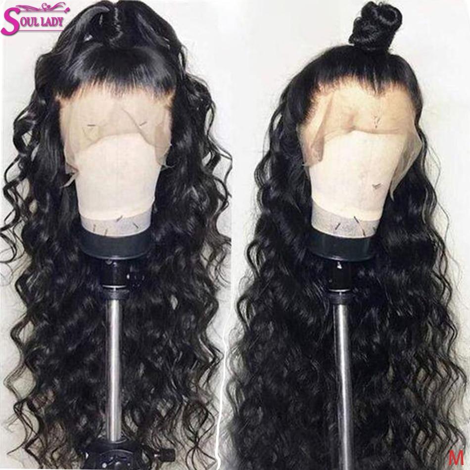 Прозрачный бразильский свободный глубокий волнистый кружевной передний парик из человеческих волос 13x6 13x4 кружевной передний парик 150 прел...