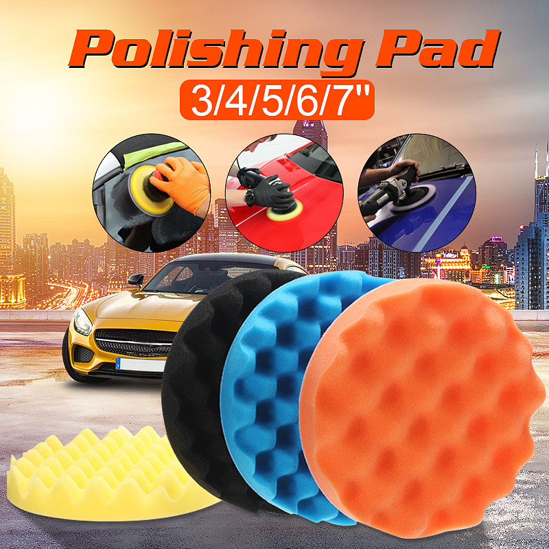 4pcs/Set 3/4/5/6/7 Inch Buffing Buffer Sponge Polishing Pad Hand Tool Kit For Watch Car Glass Polisher Wax Polishing Kits