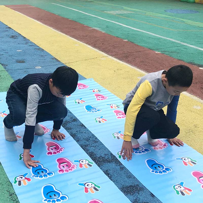 Children's Fun Play Mat Kids Hands And Feet Jumping Game Carpet Team Expand Props Indoor Outdoor Interactive Game Pads Kids Toys