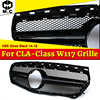 W117 A45 Style Front Grille ABS Glossy Black For MercedesMB W117 CLA-Class CLA180 CLA200 250 CLA45 Look Grill without sign 14-16