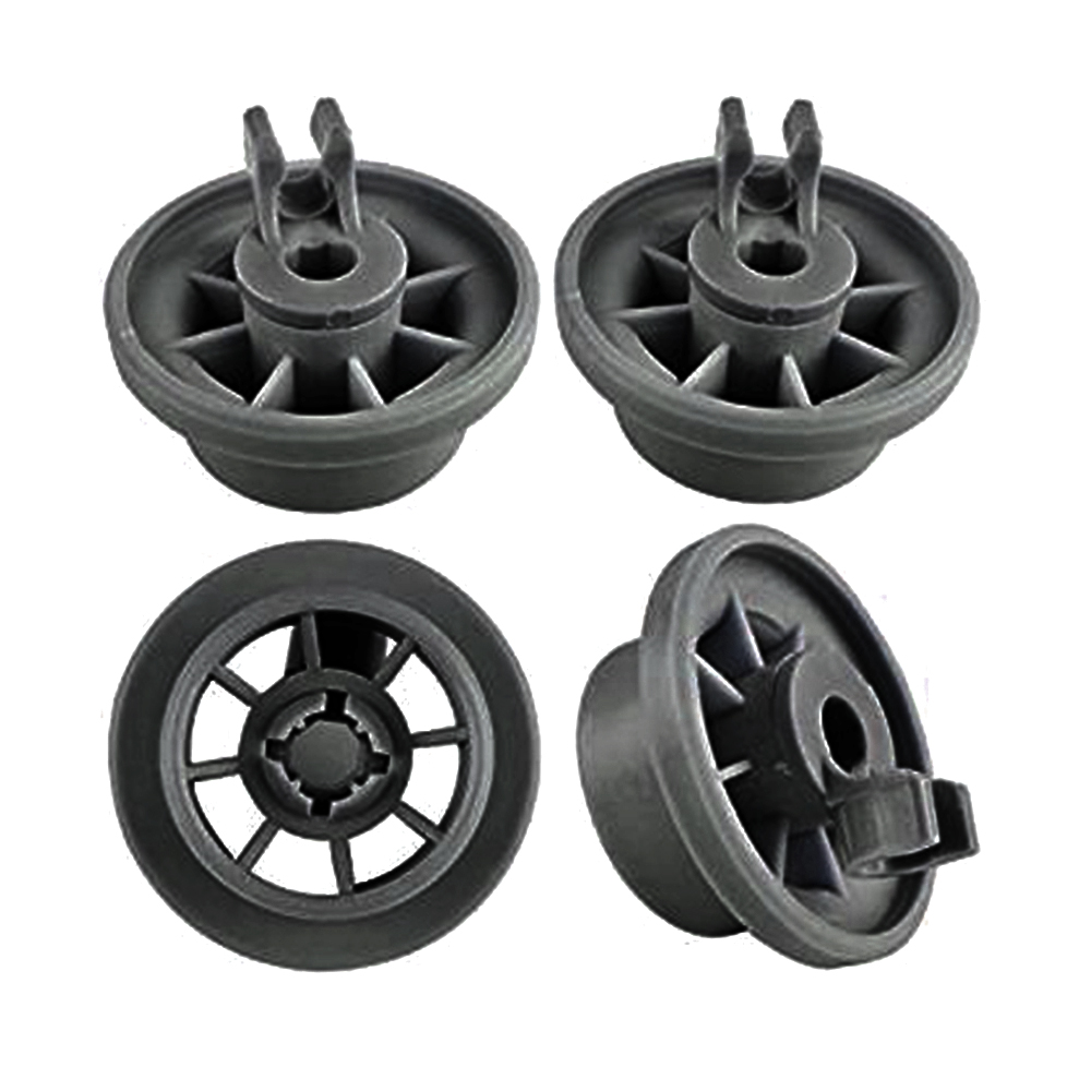 4pcs Dishwasher Rack Roller Wheels Dishwasher Lower Dishrack Wheel Suitable For Bosch Siemens NEFF Set Lower Basket