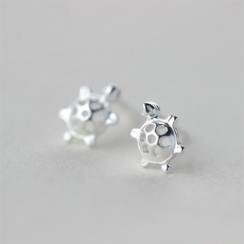 New Arrival 925 Sterling Silver Hypoallergenic Tortoise Stud Earrings For Women Sterling-silver-jewelry pendientes