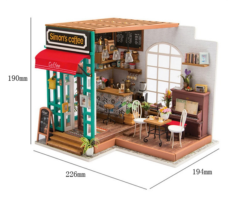 Robotime 5 Kinds DIY Doll House with Furniture Children Adult Miniature Dollhouse Wooden Kits Toy DG