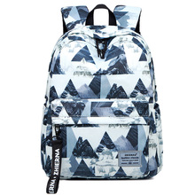 Nylon Fashion Print Backpack Female Student Multifunctional School Bag College Style Simple and Wild Backpacks Mochila Mujer