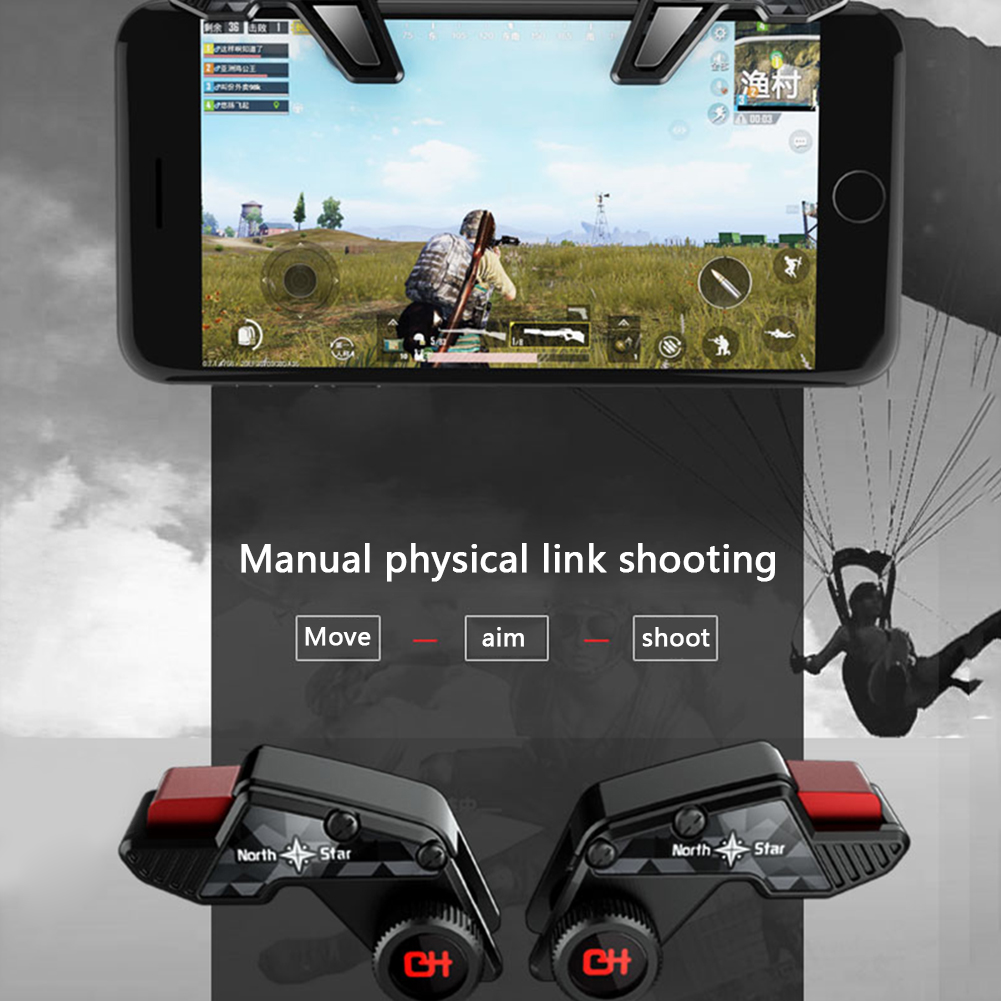 1 Pair Durable Practical Multi-functional Classic Mobile Phone Game Fire Button L1 R1 Aim Key Shooter Trigger Controller
