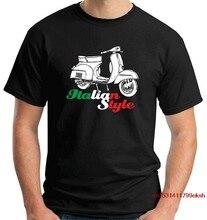 Camiseta maglia maglietta uomo t0154 vespa estilo italiano