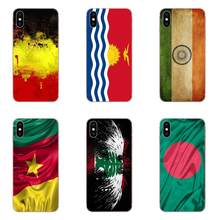 Retro Ukraine National Flag Silicone Shell Cover For Apple iPhone 4 4S 5 5C 5S SE 6 6S 7 8 Plus X XS Max XR(China)