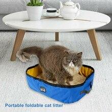 Товары для домашних животных с защитой от брызг дом, ванная, туалет подкладное судно путешествия ткань Оксфорд складные столы и стулья для наполнитель для кошачьего туалета коробка Портативный складной
