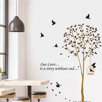 New bird cage home wallpaper removable wall stickers living room bedroom sofa background decorative stickers room decoration