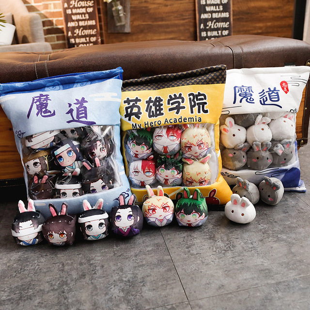 1Pc Anime The Founder Of Diabolism, Demon Slayer Plush Pillow Cute Doll Soft Toy Pillow Cushion Gift Anime Around