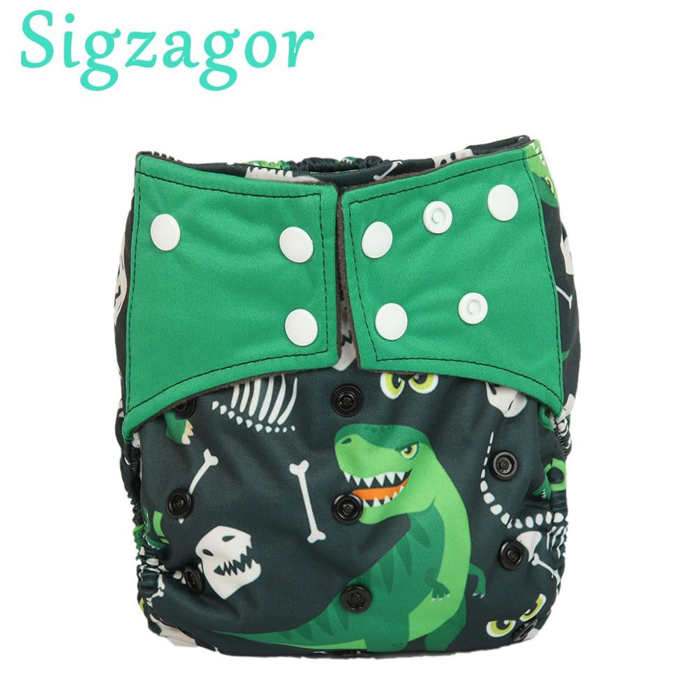 [Sigzagor]5 Charcoal Bamboo Baby Cloth Diapers Nappy Washable Reusable,Double Gussets,NO INSERT 3kg-15kg 8lbs-36lbs 44 Designs