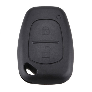 2 Buttons Remote Car Key Refit Cover Case Shell For Renault Traffic Master Vivaro Movano Kangoo Without Blade Key Case Shell New image